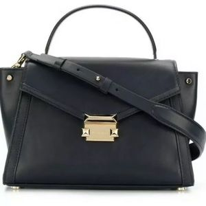 Michael Kors Whitney md top handle satchel black